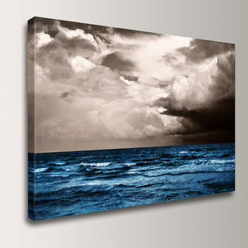 "Landscape Painting - Beach Art Wall Decor - Canvas Print of Original Oil Painting - 24x36 - "" At Sea"""