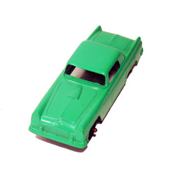Vintage Tootsie Toy, Ford Thunderbird, ca 1950s, Collectible, Car, Green