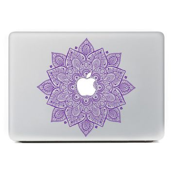 """iCasso Leaves Removable Vinyl Decal Sticker Skin for Apple Macbook Pro Air Mac 13"""" inch / Unibody 13 Inch Laptop (Purple)"""