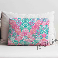 "Lilly Pulitzer Ocean Shells Custom Decorative Throw Pillow Case 16"" x 24"""
