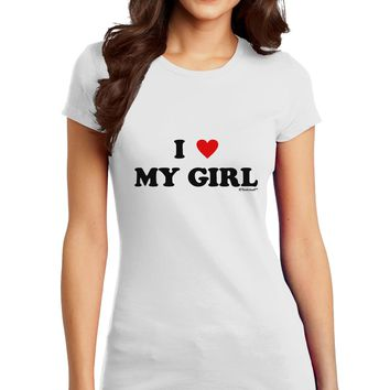 I Heart My Girl - Matching Couples Design Juniors T-Shirt by TooLoud