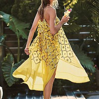 Free People Womens Electric Sky Embellished Maxi