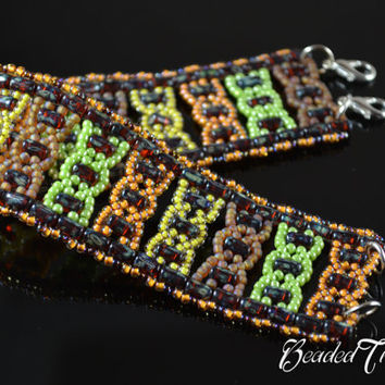 "Beaded bracelet pattern with Rulla - ""Helix"" / BEADING TUTORIAL ONLY"