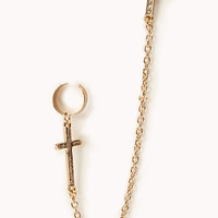 Cross Stud Ear Cuff