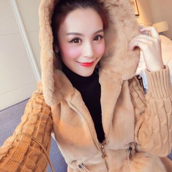 2016 Autumn Winter Warm Overcoat Big Fur Collar Hood Clothing Anorak Jacket Fashion Women Parka Warm Outerwear Coat With Hat