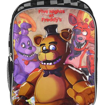 """Five Nights at Freddy's 16"""" Backpack with Side Mesh Pockets"""