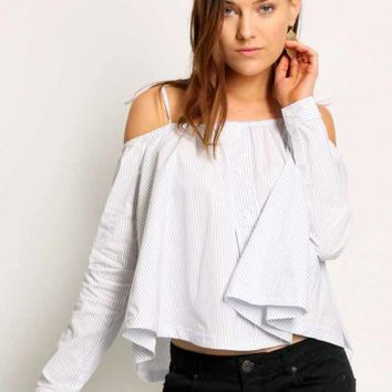 Tilbury Striped Off-Shoulder Top