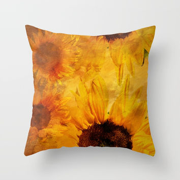 Sunshine On My Shoulder Throw Pillow by Theresa Campbell D'August Art