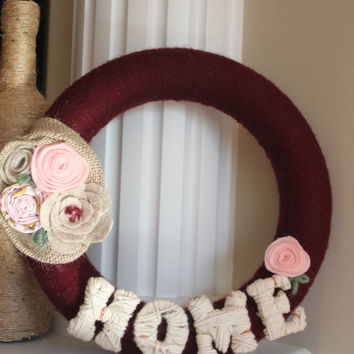 Wreath, Country Decor, Flower wreath, Home Decor,
