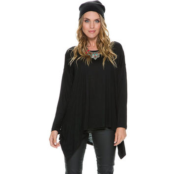 Long Sleeve Asymmetrical Loose T-Shirt
