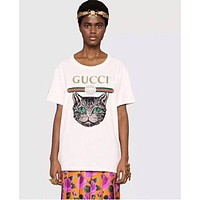 """""""Gucci"""" Double G Letter Print T-Shirt F"""
