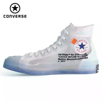 1970s Original Converse OFF WHITE lucency all star Vintage shoes men and women unisex sneakers