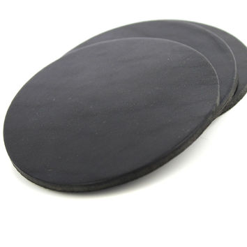 English Bridle Leather Coasters - Black