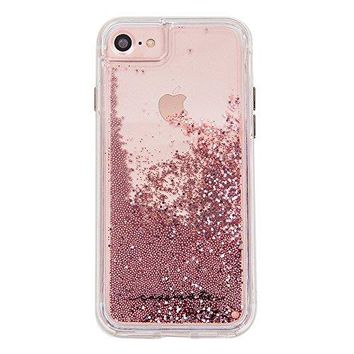 Case-Mate iPhone 7 Case - Waterfall Series - Sparkle Glitter Fashion Case - Rose Gold - Military Drop Protection (Compatible w/ iPhone 6/6s)