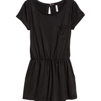 Short-sleeved Jumpsuit - from H&M