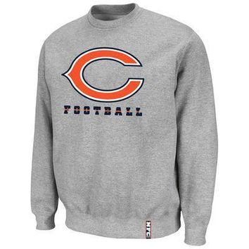 Chicago Bears Classic Heavyweight V Pullover Sweatshirt - Gray