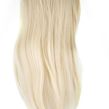 CAMMITEVER Blonde Training Mannequin Head Hairdressing Dummy Hairstyle Long Hair Doll Mannequin Head For Practice