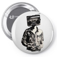stereo head Pin-back button