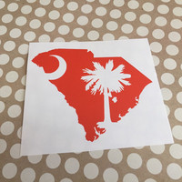 South Carolina State Home Decal | South Carolina Decal | Clemson SC Decal | Love South Carolina Sticker | Car Decal | Car Stickers | 238