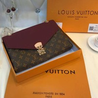 LV Louis Vuitton chain bag clamshell design Messenger bag shoulder bag F-BCZ(CJZX)