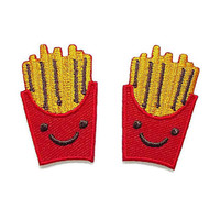 Set 2pcs. Happy Cute French Fries New Sew / Iron On Patch Embroidered Applique Size 2.5cm.x4cm.