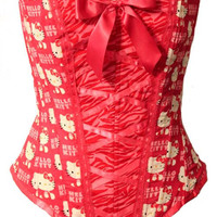 Red Zebra Hello Kitty Corset in stock ready to by kawaiiparlor