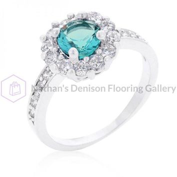 Bella Birthstone Engagement Ring In Blue (size: 09) R08347R-C32-09