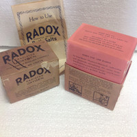 Rare Antique 1930s RADOX Oxygen Radiating Medicated Bath Salts Medicine With Contents