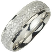 Stainless Steel Sparkle 5.8mm Band Ring