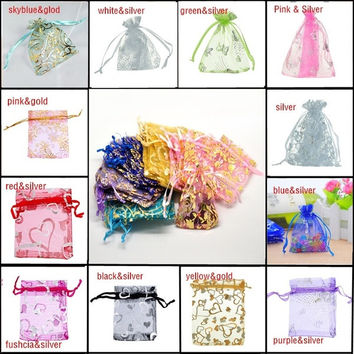 25pcs 7cmx9cm Skyblue Organza Jewelry Gift Pouch Bags Wedding X-mas Party Favor = 1932849348