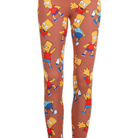 "ROMWE | ""The Simpsons"" Leggings, The Latest Street Fashion"