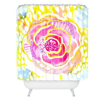 CayenaBlanca Pink Sunflower Shower Curtain