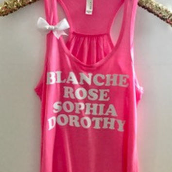 Golden Girls Tank  - Ruffles with Love - Racerback Tank - Womens Fitness - Workout Clothing - Workout Shirts with Sayings