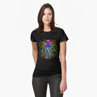 SOLD! Octopus Psychedelic Luminescence Women's TShirts | Design by BluedarkArt | Redbubble Shop