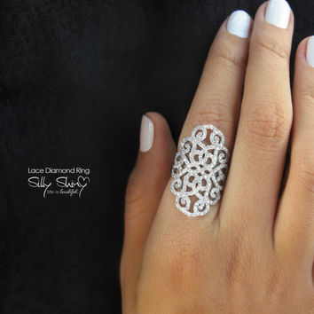 Lace Diamond Ring - The Original 14K Gold