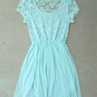 Beloved Lace Dress in Mint [5638] - $28.80 : Vintage Inspired Clothing & Affordable Dresses, deloom | Modern. Vintage. Crafted.
