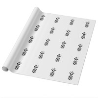 Black Pine Apple Wrapping Paper