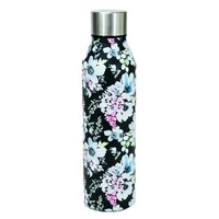 Stainless Water Bottle - Black Floral