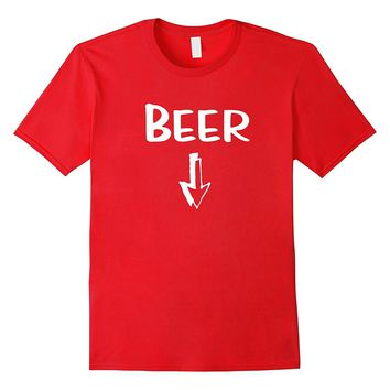 Mens Matching Pregnancy Shirts Funny Beer Baby Belly T Shirt