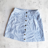 high standards suede skirt - blue