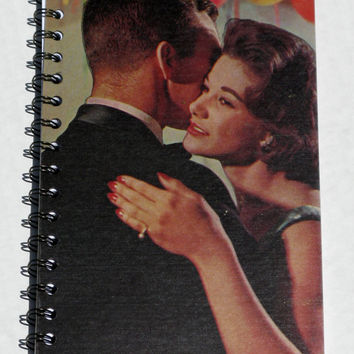 Vintage Upcycled Album Cover Sketchbook Journal Notebook 1960s Couple Dancing