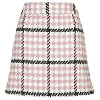Check Mini Skirt - Pink