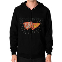 Ppizza pizza pizza Zip Hoodie (on man)