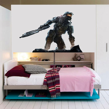 Halo Decal - Halo Master Chief Printed and Die-Cut Vinyl Apply in any Flat Surface- Halo Master Chief Wall Art Decor