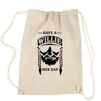 Have A Willie Nelson Nice Day Drawstring Backpack