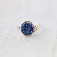 Round Druzy Ring - Choose a Color