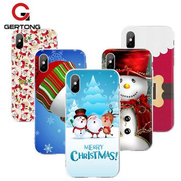 Christmas Santa Claus Case For iPhone Cute Cartoon
