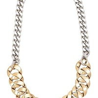 Marc by Marc Jacobs Mixed Up Link Katie Choker in Metallic Gold
