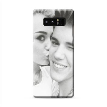 Justin Bieber and Miley Cyrus Samsung Galaxy Note 8 case