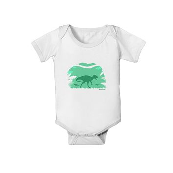 Dinosaur Silhouettes - Jungle Baby Romper Bodysuit by TooLoud